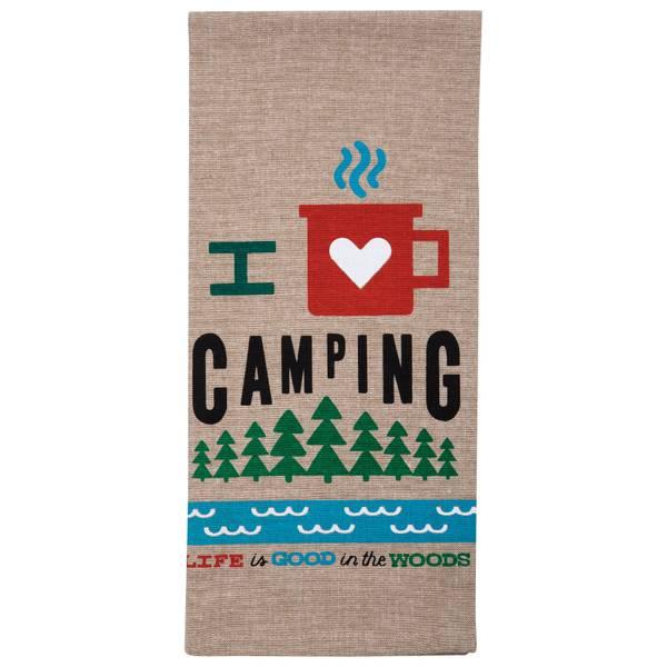 I Love Camping Tea Towel