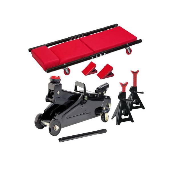 Floor Jack, Jack Stand & Creeper 6-Piece Kit