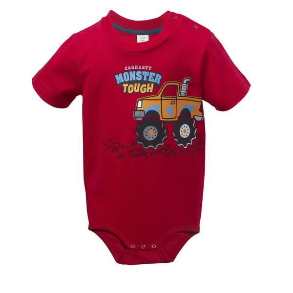 Infant Boy's Red Monster Tough Bodyshirt