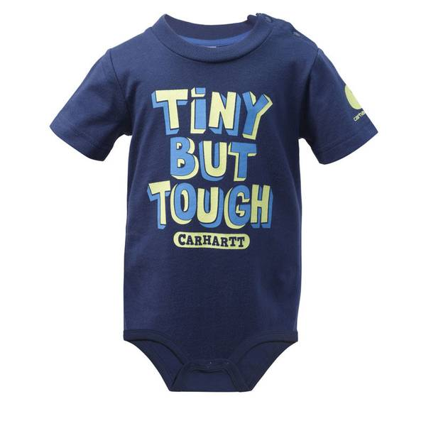 Baby Boy's Navy Tiny But Tough Bodyshirt
