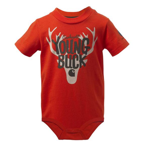 Baby Boy's Orange Young Buck Bodysuit