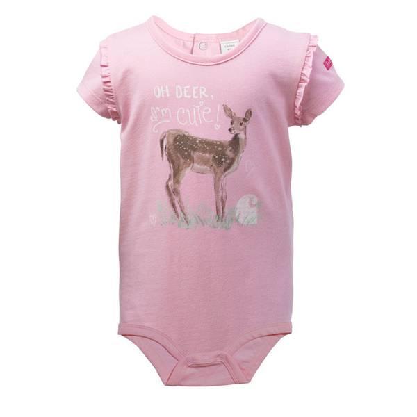 Infant Girl's Pink Oh Deer Bodyshirt