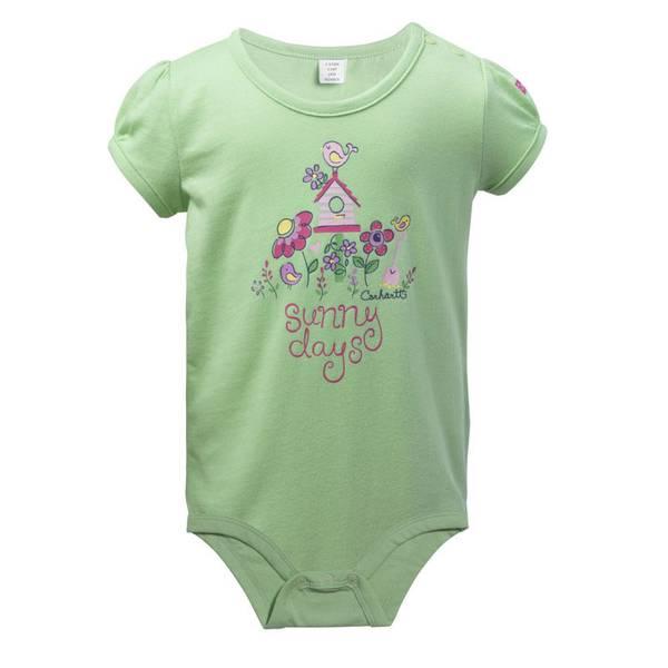 Baby Girl's Green Sunny Days Bodyshirt