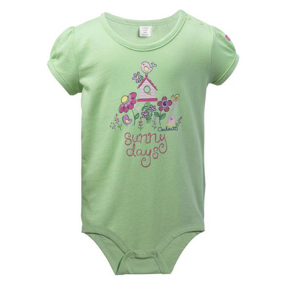 Infant Girl's Green Sunny Days Bodyshirt
