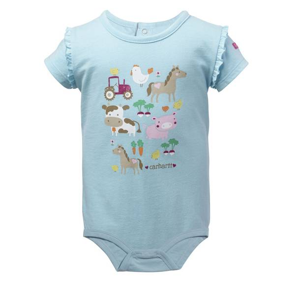 Infant Girl's Blue Homegrown Bodysuit