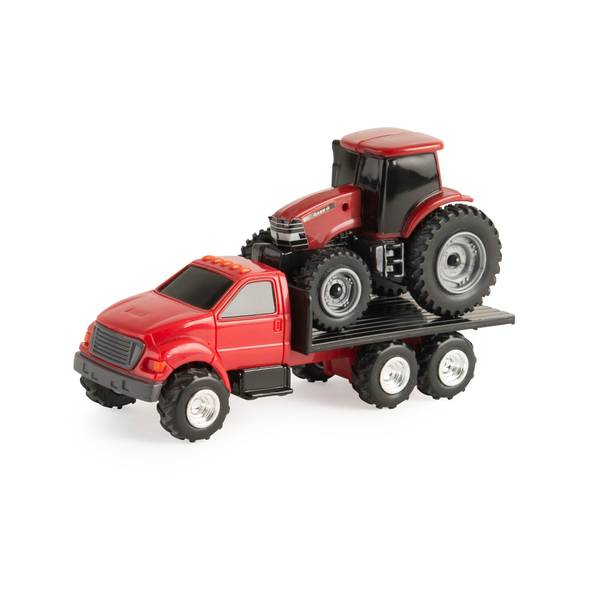 Truck with Case IH Tractor