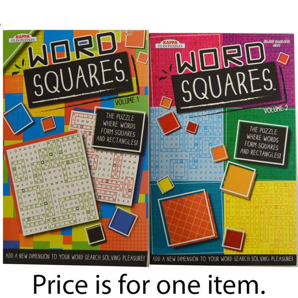 Word Squares Puzzle Book Assortment
