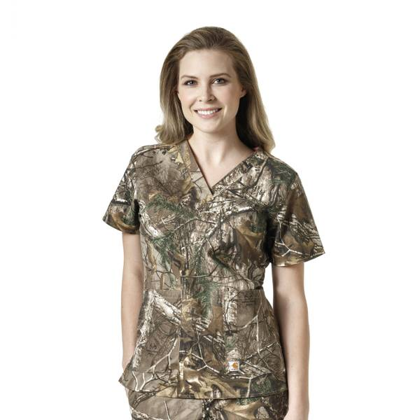 Women's Realtree Cross-Flex V-Neck Top