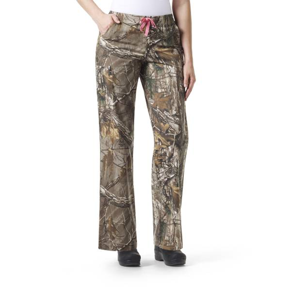 Women's Realtree Cross-Flex Cargo Scrubs Pants