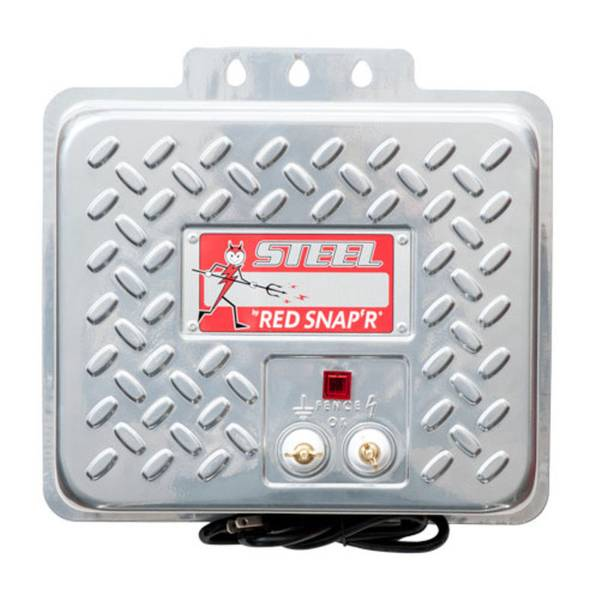 Red Snap'r Steel AC Fence Charger