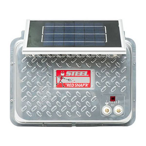 Red Snap'r Steel Solar Fence Charger