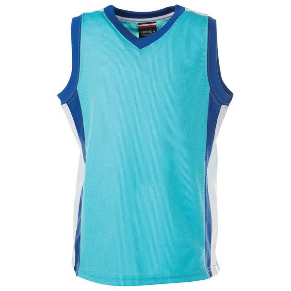 Infant Boy's Blue Active Mesh V-Neck Top