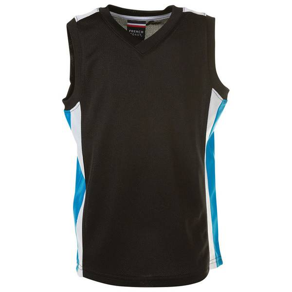 Infant Boy's Black Active Mesh V-Neck Top