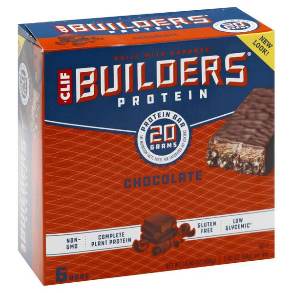 Builder's Chocolate 20g Protein Bars - 6 Count
