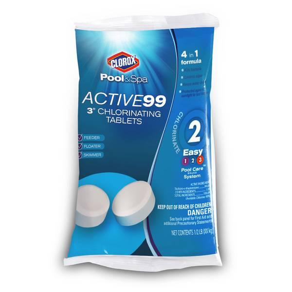 "Pool & Spa Active99 3"" Chlorinating Tablets"