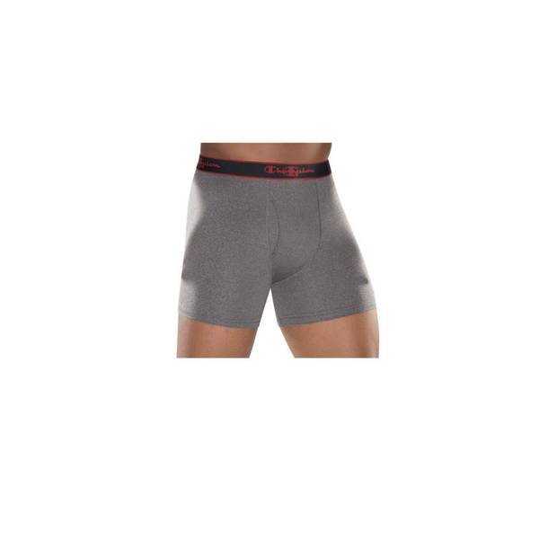 Men's Black & Gray Active Performance Boxer Brief-3 Pack