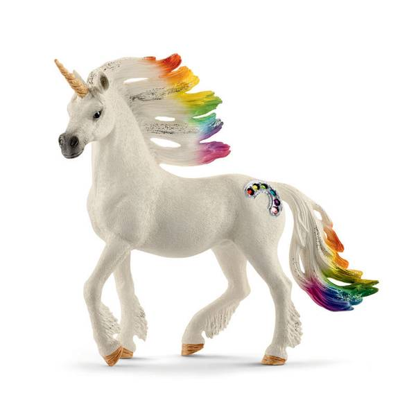 Rainbow Unicorn Stallion Figurine