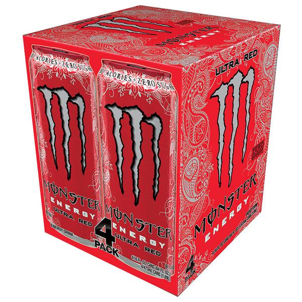 Ultra Red Energy Drink - 4 Pack
