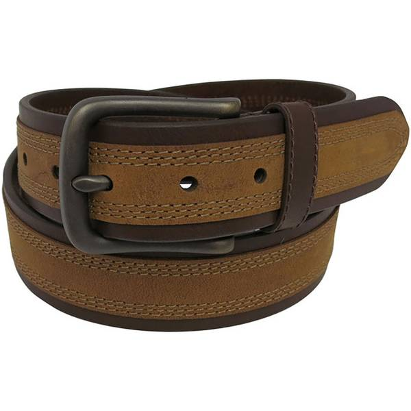 Men's 40mm Cut Edge Two Tone Belt