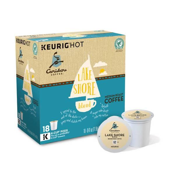 Caribou Coffee Lake Shore Blend Coffe K - Cups