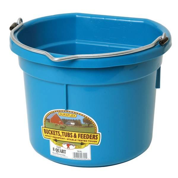 8 Qt. Duraflex Flat Back Plastic Bucket