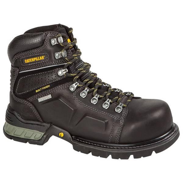 Cat Footwear Men's Black Endure Leather Waterproof Steel