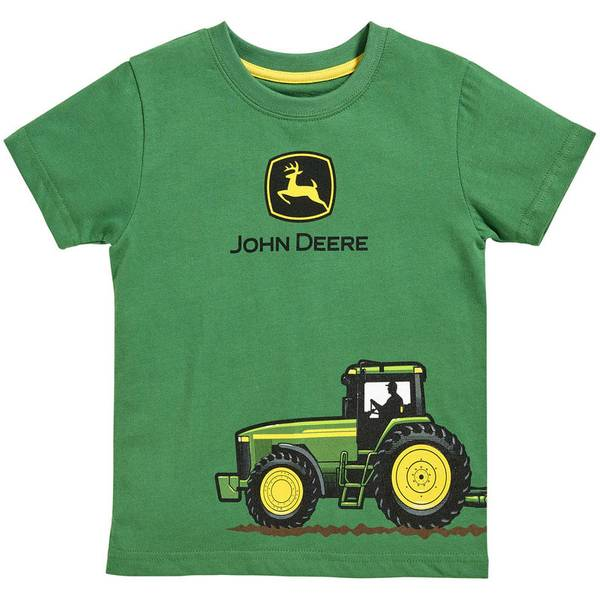 Infant Boy's Green Short Sleeve Tractor Power Tee