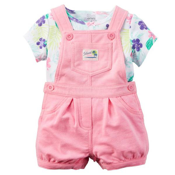 Bab 2-Piece Tee & Shortalls Set