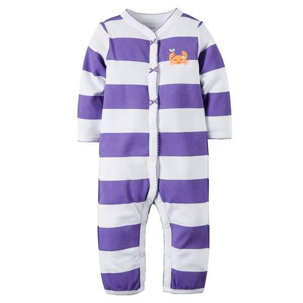 Baby Girls'  & White Sleep & Play Snap-Up Bodysuits