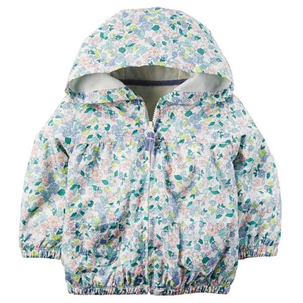 Infant Girl's Floral Jersey-Lined Jacket
