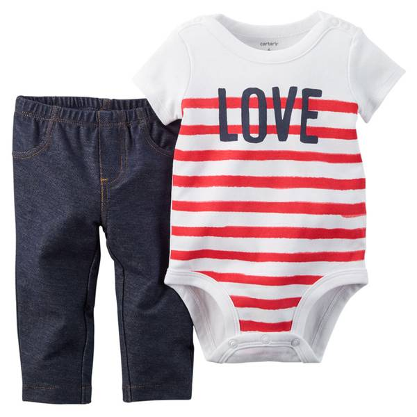 Baby Girl's Multi Colored 2-Piece Bodysuit & Jeggings Set