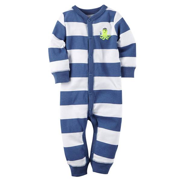 Baby Boys'  & White Snap-Up Sleep & Play Pajamas