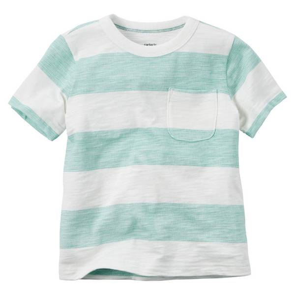 Boys'  & Blue Striped Short-Sleeve Tee
