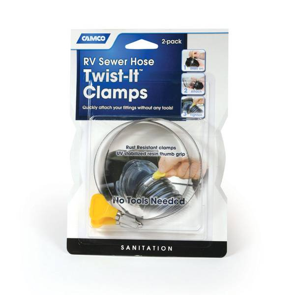 Twist-It Clamp RV Sewer Hose Connector