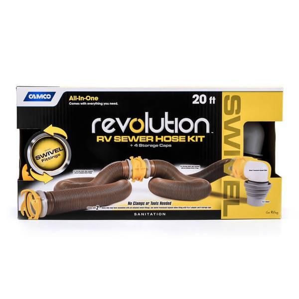 Revolution Swivel Sewer Hose Kit