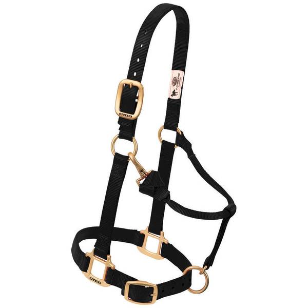 Original Adjustable Chin & Throat Snap Halter - Large Horse or 2-Year-Old Draft