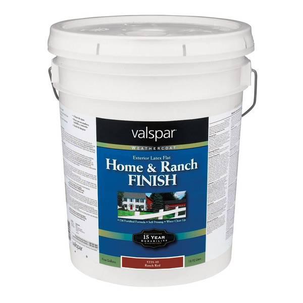 Valspar Home Ranch Finish Weathercoat Exterior Paint
