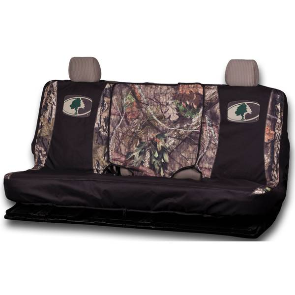 Black Camouflage Bench Seat Cover