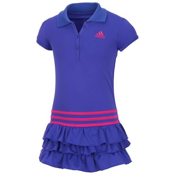 Girl's Purple Ruffled Polo Dress