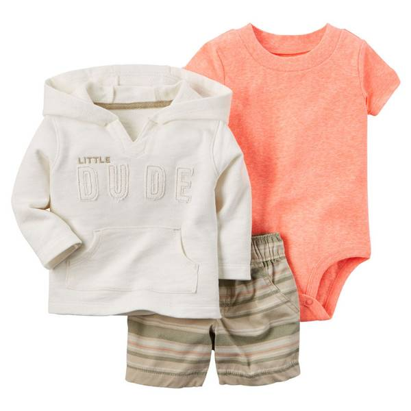 Infant Boy's Multi Colored Cardigan 3-Piece Set