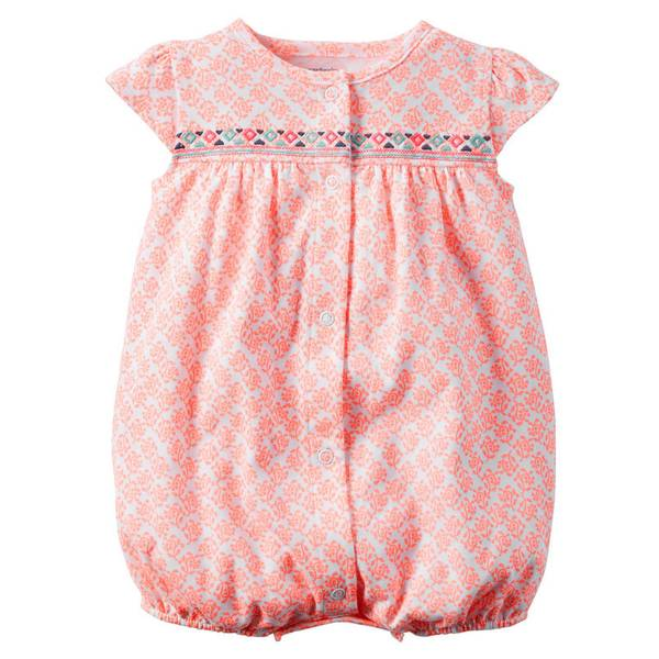 Infant Girl's Coral Romper