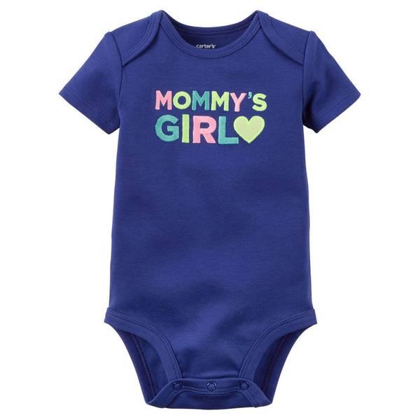 Infant Girl's Blue Mommy's Girl Bodysuit