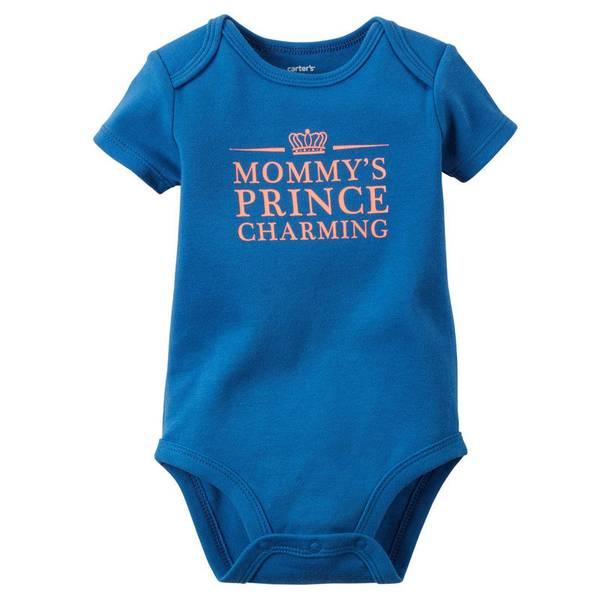 "Baby Boy's Blue ""Prince Charming"" Bodysuit"