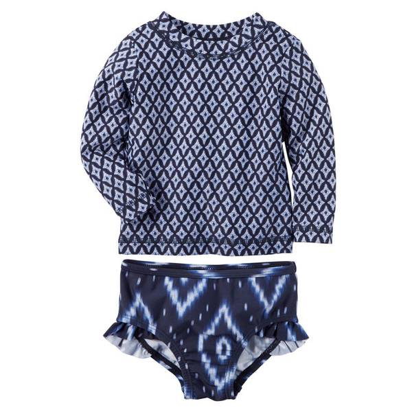Baby Girl's Navy 2-Piece Swim Se