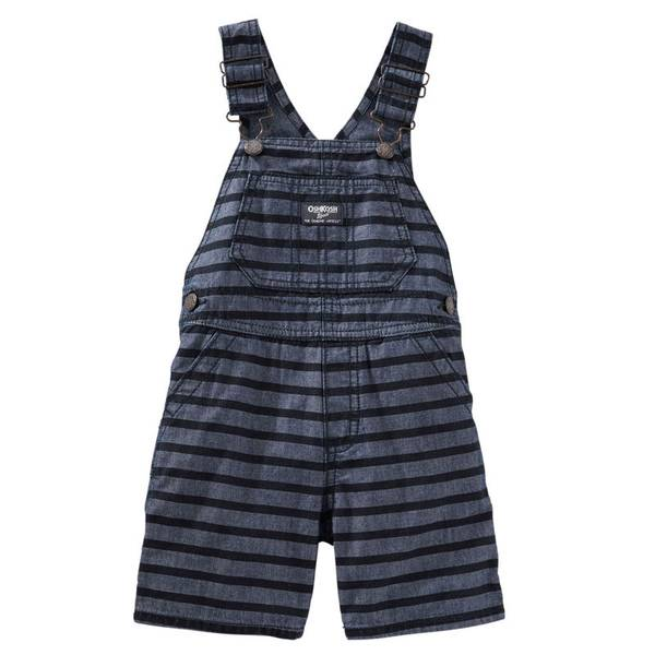 Infant Boy's Chambray Striped Shortalls