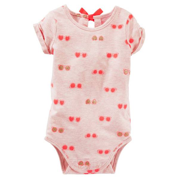 Infant Girl's Pink Bow-Back Bodysui