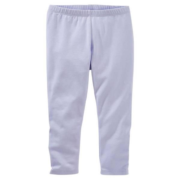 Girls' Purple TLC Crop Leggings