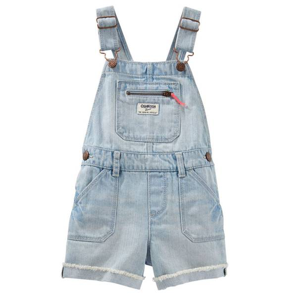 Baby Girl's Denim Shortalls