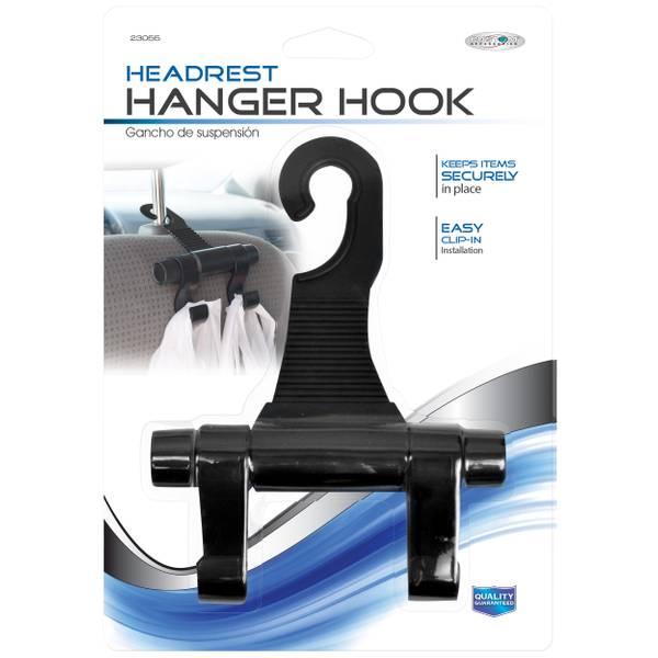 Black Plastic Headrest Hanger