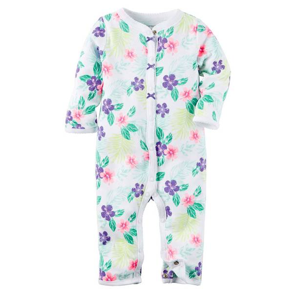 Baby Girls' Floral Footless Sleep & Play